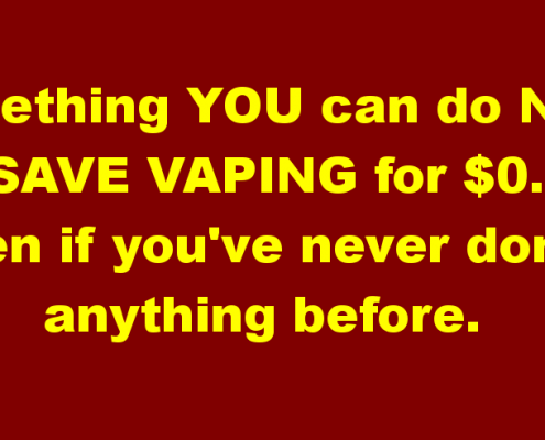 Something You Can Do Now to Save Vaping